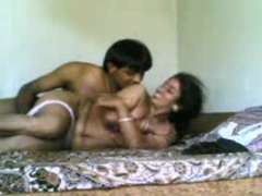 Brainy Indian TeluguAunty permit Fucking Partner to film their nailing