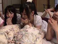 Asiatique, Groupe, Japonaise, Adolescente