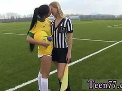 Teen old and teen lesbian oil orgy xxx Brazilian player fucking the referee
