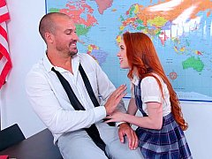 Real teachers hook up with their students on cam