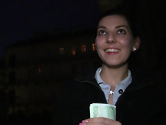 Hungarian Bessi Reatar gets paid for public outdoor blowjob & pov fuck