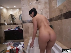Tight Body Asian Cleans The House And Cock