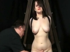 Bondage Spanking and furthermore pain for sub slut Sand furthermorey