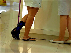 doll sprained ankle sock crutches