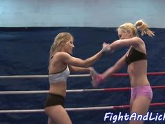 Wrestling amateur lezzies queening each other