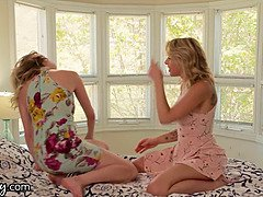 Girlsway Cadence Lux & her girlfriend can't stop squirting, they swallow everything!