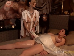 Busty Preggo Enjoys Czech Tantra Massage