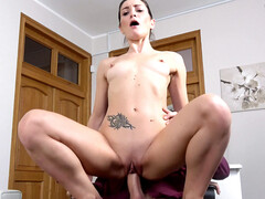 Valentina Bianco lets a guy cum deep in her tight pussy