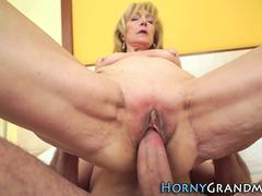 mature granny gets cum hard