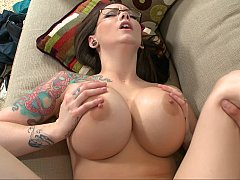 Badass hotties with tats get fucked and cummed on
