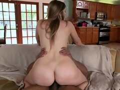 Horny wife is fucking her husband's friend